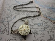 The Wendy Necklace  Vintage OOAK Watch and by SeizeTheNight, $28.00