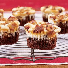 Black-Bottom Apple Cupcakes - Woman's Day  Fruit or chocolate—it's the eternal dessert debate. Why not have both? This semisweet cupcake blends chopped Granny Smith apples with cocoa powder, cream cheese, light brown sugar and apple juice.