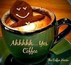 Good Morning pics with gingerbread men and coffee Men Coffee, Coffee Is Life, I Love Coffee, Coffee Cafe, Drink Coffee, Good Morning Coffee, Coffee Break, Morning Coffee Quotes, Momento Cafe