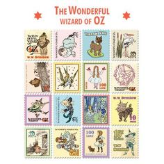 Stamp Sticker Set V.4 - The Wizard of Oz - A Type 02 - OZ4528
