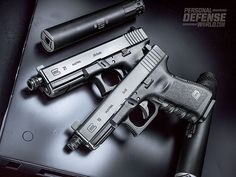 Train and defend silently with GLOCK's new suppressor-ready Gen3 pistols!