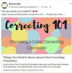 New article is out ladies!!!👄👄  https://essenceofbeautybay.wordpress.com/2018/04/19/things-you-need-to-know-about-color-correcting-concealers/  .  .  .  .  #beautybay💟 #colorcorrectors👄 #colors #correctors #makeupvibes #purple #pink #blue #green #yellow #peach #trends #beautyblogging #instafashion #instagood #lifestyle #hacks #tips #health #benefits #facebook #pagr #blog #linkinbio #like4like #followme