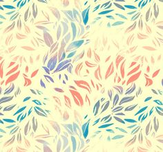 print / pattern / feathers / leaves
