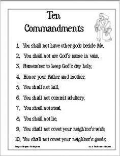 Image result for catholic ten commandments printable