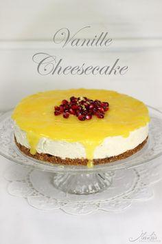 Supercremiger Vanille Cheesecake mit Orange und Muskat