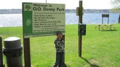 O.O. Denny Park - stomp rocket and swim goggles!