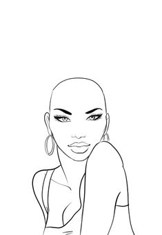 How to draw afro hair in fashion design sketches step by step tutorial