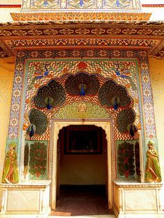 The Peacock Door in Jaipur, India