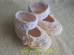 Knitting Pattern 24 Baby Booties 0-3 3-6 6-9 by handknitsbyElena