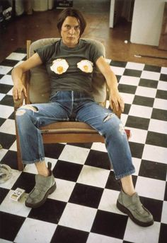 "Sarah Lucas, ""Self Portrait with Fried Eggs"", 1996. Digital print on paper. Courtesy of the artist and Tate, London."