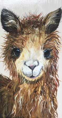 Baby Ilustration This cute llama painting would be a cute addition to your babys nursery, in a pe. Alpacas, Animal Paintings, Animal Drawings, Watercolor Animals, Watercolor Paintings, Art Rupestre, Images D'art, Llama Arts, Colors
