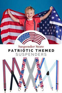 SuspenderStore Mens Christmas Spirit Clip-End Novelty Suspenders 3 Sizes