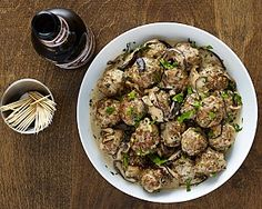 Mini Meatballs with Bock Mushroom Sauce