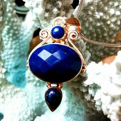 "NWOT - Blue LAPIS LAZULI pendant.           . You can see from the picture how dainty this pendant is! The pictures do not do it justice! Treat yourself or someone else with this gift!        11.30 Carats Natural Blue LAPIS LAZULI          925 Sterling Silver 17.5"" Chain ENJOY! ***PRICE CUT***  Jewelry"