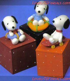 Eu Amo Artesanato: Snoopy de biscuit