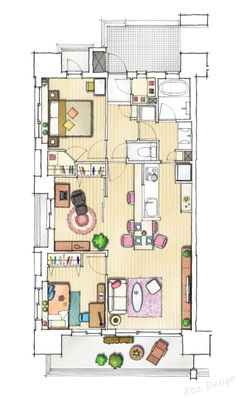 Home Layout Design, Interior Garden, Interior Design, Building Aesthetic, Japanese Apartment, Castle House, Japanese Architecture, Japanese House, House Layouts