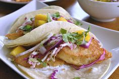 This is the quintessential fish taco — crunchy and sweet, with just a hint of tangy citrus. Even people who say they don't like fish (i.e., your kids) will love them.