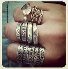 Silver & Stone Rings
