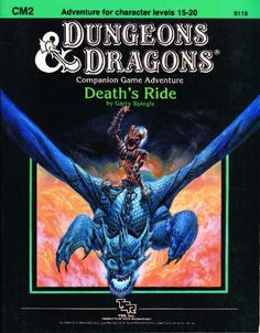 CM2 Death's Ride (Basic) | Book cover and interior art for Dungeons and Dragons Basic and Expert Editions - Dungeons & Dragons, D&D, DND, Basic, Expert, 1st Edition, 1st Ed., 1.0, 1E, OSRIC, OSR, Roleplaying Game, Role Playing Game, RPG, Wizards of the Coast, WotC, TSR Inc. | Create your own roleplaying game books w/ RPG Bard: www.rpgbard.com | Not Trusty Sword art: click artwork for source