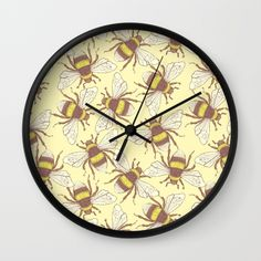Buy Bees! Wall Clock by Good Sense. Worldwide shipping available at Society6.com. Just one of millions of high quality products available.