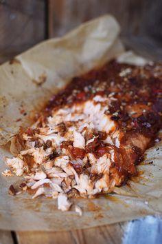 Pulled Lachs mit frischer Salsa - Pulled Salmon Tacos (3)