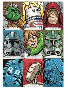 Star Wars sketch cards 5 by ~JasonGoad
