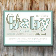 Baby Shower Invitation Oh Baby Boy Printable by twentythreeohone, $13.00