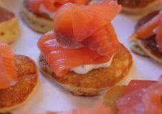 Blinis con salmón. Ya se lo que quiero