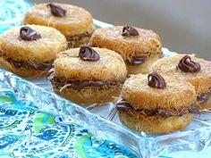 Mini - Kunafa mit Nutella -  Kunafa Ramadan Gebäck Rezept