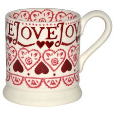 Buy Emma Bridgewater Sampler Mug, Pint from our Mugs range at John Lewis & Partners. Pretty Mugs, Cute Mugs, Emma Bridgewater Pottery, Pip Studio, All You Need Is Love, Ruby Red, Love Heart, Tea Pots, Coffee Mugs