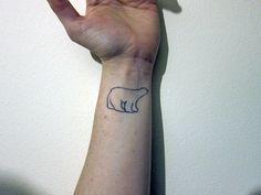 Polar bear tattoo (source: http://fourteen-eyes.blogspot.com)