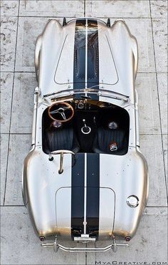 Shelby Cobra Gold with black racing stripes- She's a beaut!!!!