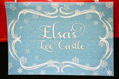 Frozen Party Printables - Elsa's Ice Castle Sign