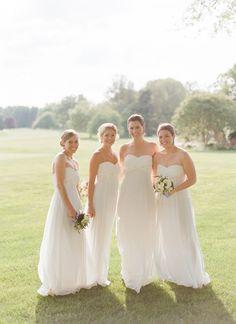 bridesmaids in white | Kate Headley