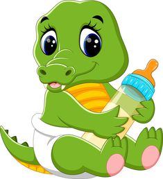 Find Illustration Cute Baby Crocodile Cartoon stock images in HD and millions of other royalty-free stock photos, illustrations and vectors in the Shutterstock collection. Thousands of new, high-quality pictures added every day. Clipart Baby, Cute Clipart, Baby Dinosaurs, Baby Animals, Funny Animals, Cute Animals, Baby Zoo, Cartoon Kunst, Cartoon Art
