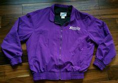 Hoosier Racing Tire Purple Nylon Jacket Men's XL lined Race Wear windbreaker  #Racewear #BasicJacket