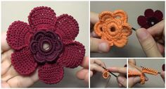 Let's rest from crocheting warm clothing and accessories and think about decoration for our clothing or home interior and many other things. Today at pretty-ideas.com we have searched for you very beautiful petal flower and also video tutorial in which everything is clearly explained by flower's author. Choose colors and crochet many flower to make your children's sweater and many other items more attractive, Or make your blanket more beautiful. Crocheting this petal flower is very enjoyable…