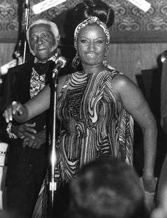 Celia Cruz y su esposo Pedro Knight