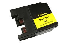 Single Yellow Toner Ink Cartridge for Brother Printers, Part No. LC-103XL