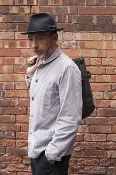 David Keyte in our Shawl Collar Overshirt