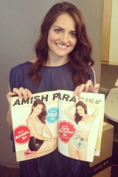 Kate Stoltzfus from Breaking Amish poses for Maxim magazine
