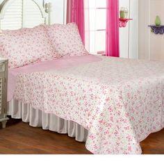 Textiles Plus Inc. Butterflies Quilt Set