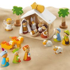 Sevi Heirloom Wooden Nativity Scene