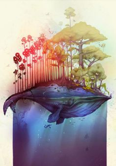 Save the Whales. Illustration by Thiago Neumann #art