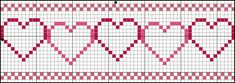 A cute little graph with hearts can be an easy Valentine craft for the cross stitcher.