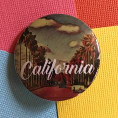 California Travel Pinback Button California Pin California