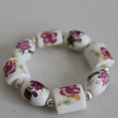 Pink Posies in Marla Bee Designs -- Made for a small wrist but it is super pretty! $18