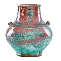 "JUGTOWN Fine Chinese Blue urn, North Carolina, after 1922; Jugtown Ware stamp; 10 1/2"" x 9"""