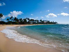 Poipu Beach, Kaua'i, Hawai'i!  Beautiful and...full of history.  There is a pattern here.