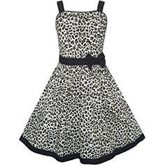 d8790d4a00fed Amazon.com: Sunny Fashion Girls Dress Sleeveless Floral Print Asymmetric  Shoulder Design: Clothing